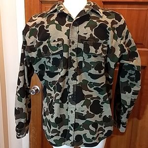 USA made,button down flannel camo shirt.